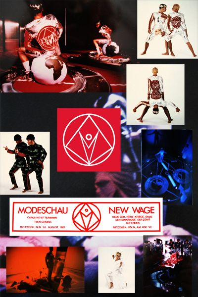 New Wage, 1987-88, Photo-Collage fuer Modeschau-Performance